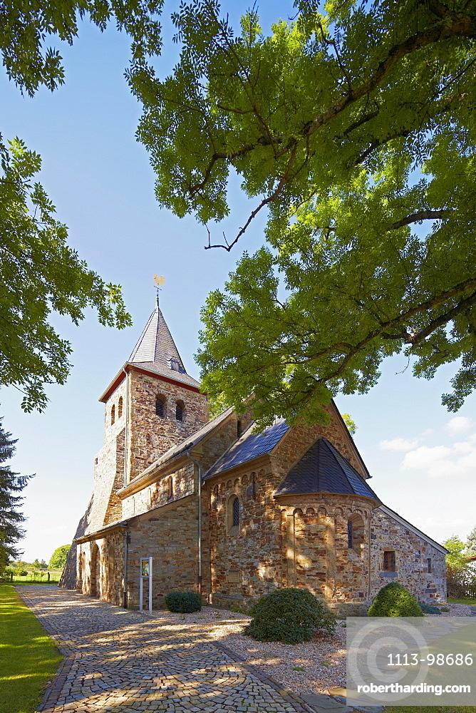 Roman basilica at Asbach - Kircheib near Altenkirchen, Westerwald, Rhineland-Palatinate, Germany, Europe