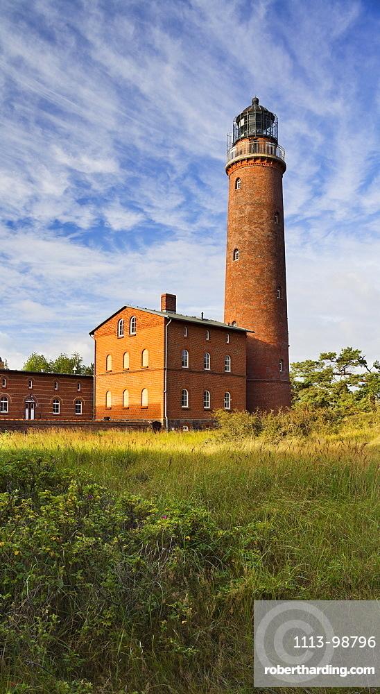 Lighthouse at Darsser Ort, Darss, Nationalpark Vorpommersche Boddenlandschaft, Mecklenburg-Western Pomerania, Germany