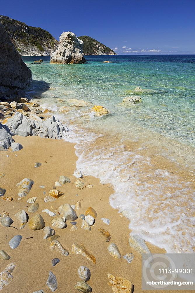 Rocks at Spiaggia Sansone, Elba Island, Tuscany, Italy