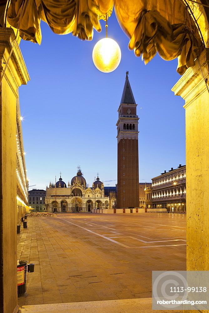 Campanile, St Marks Square, San Marco, Venice, Italy
