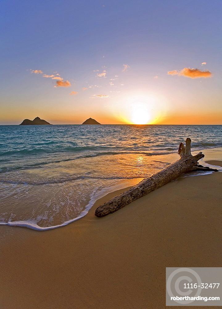 Hawaii Oahu Lanikai Beach At Stock Photo