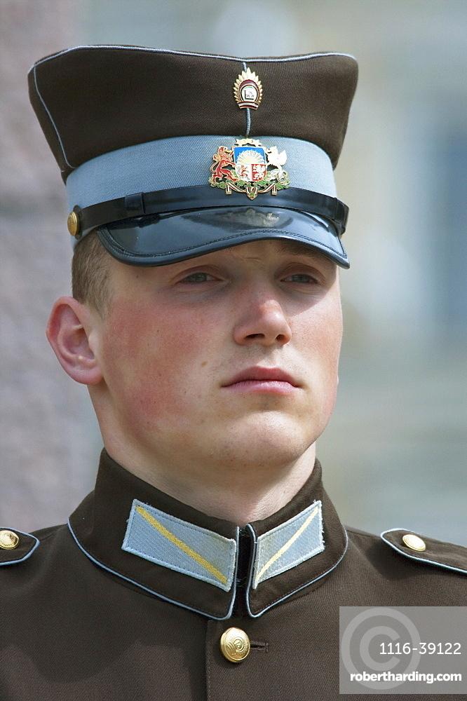 Honour Guard At The Freedom Monument, Riga, Latvia