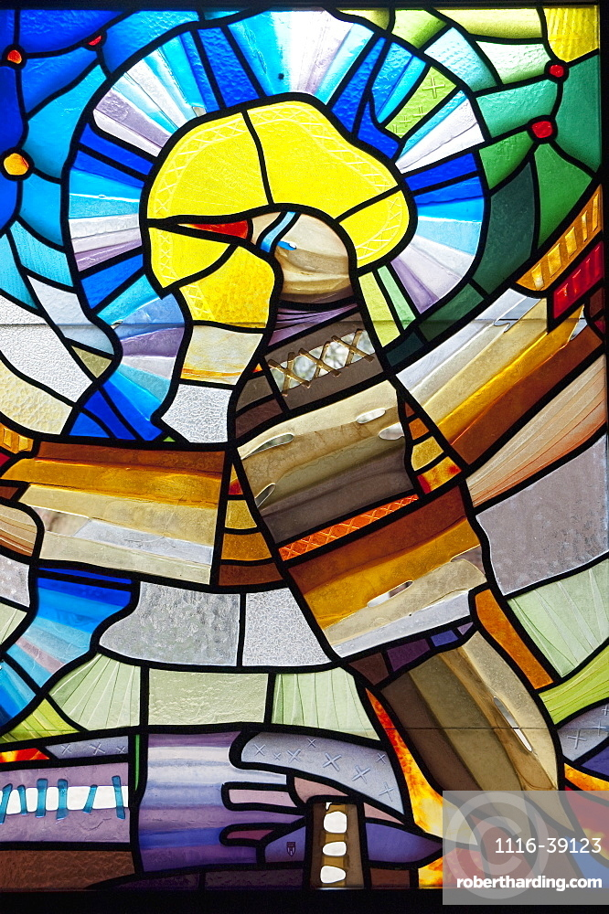 Stained Glass Art At The Cross Gallery, Riga, Latvia