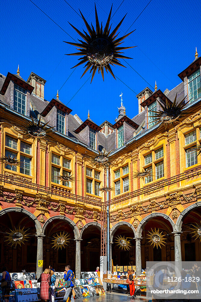 Market in the Old Stock Exchange, Lille, France, West Europe