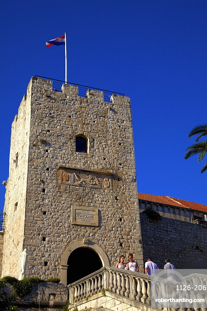 Land Gate, Korcula, Dalmatia, Croatia, Europe
