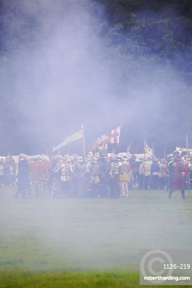 Battle of Bosworth Field Re-enactment, Market Bosworth, Leicestershire, England, United Kingdom, Europe