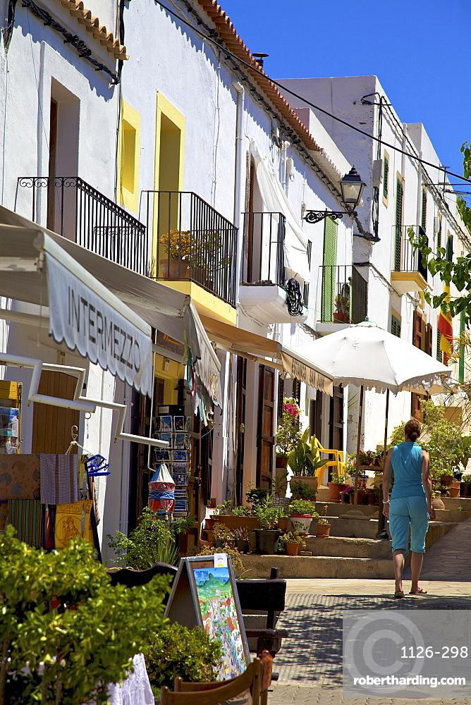 Street Scene, Sant Joan De Labritja, Ibiza, Spain, Europe