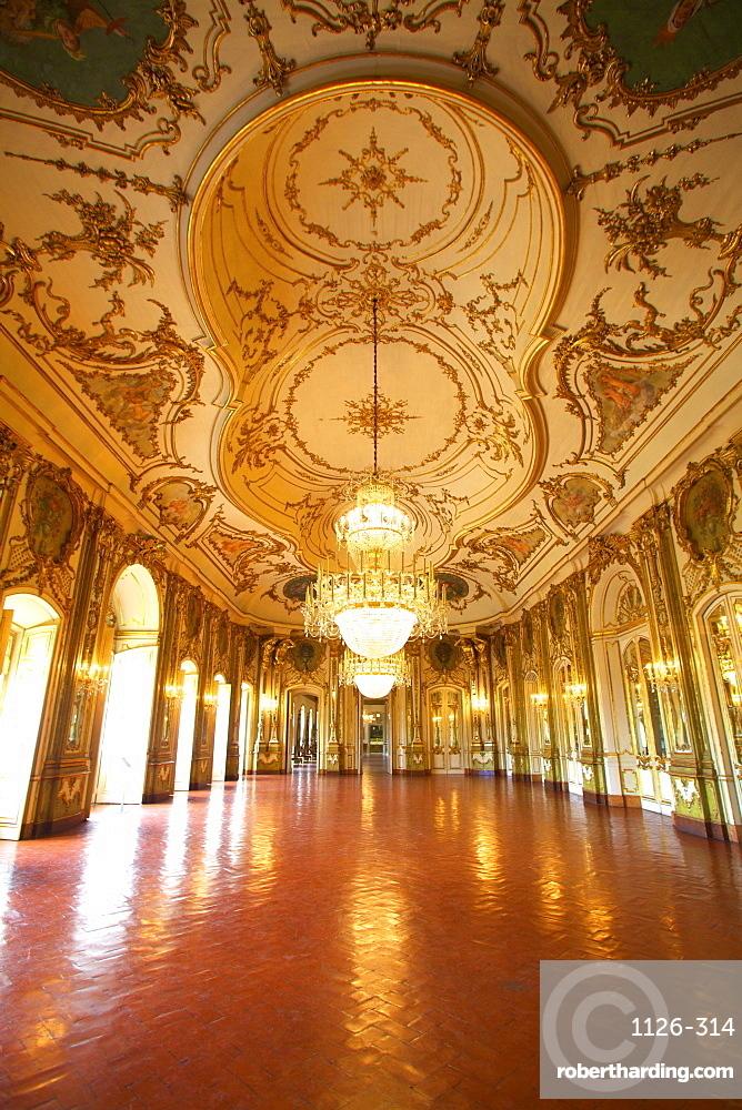 Ballroom, Palacio de Queluz, Lisbon, Portugal, Iberian Peninsula, South West Europe