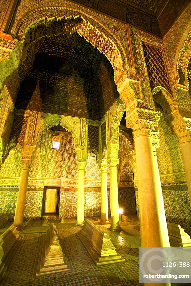 Saadian Tombs, UNESCO World Heritage Site, Marrakech, Morocco, North Africa, Africa