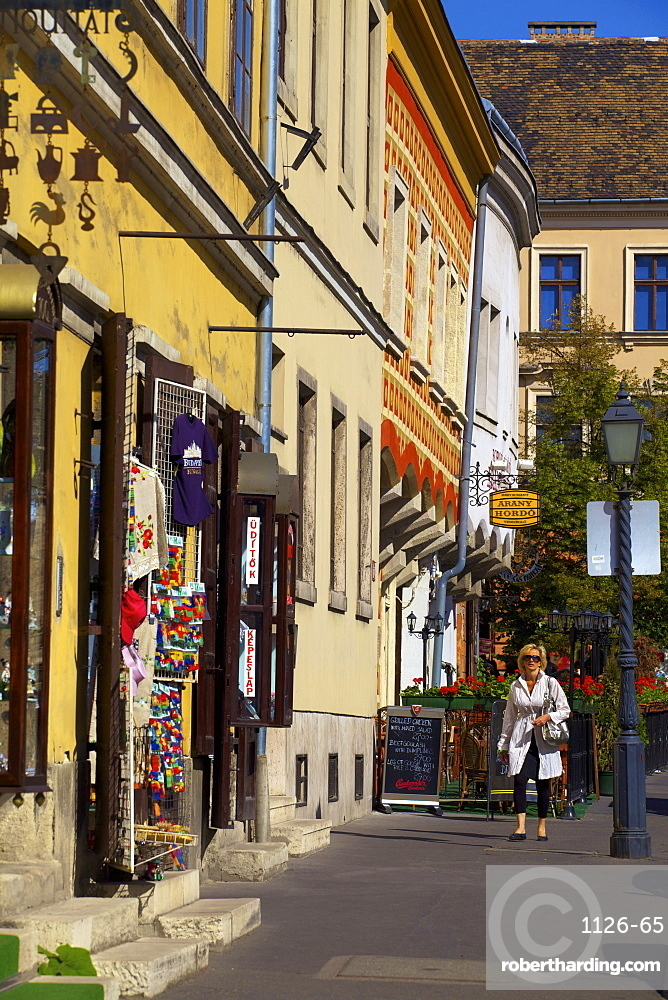 Shops on Castle Hill, Budapest, Hungary, Europe