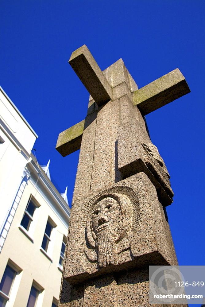 La Croix De La Reine, Charing Cross, St. Helier, Jersey, Channel Islands, Europe