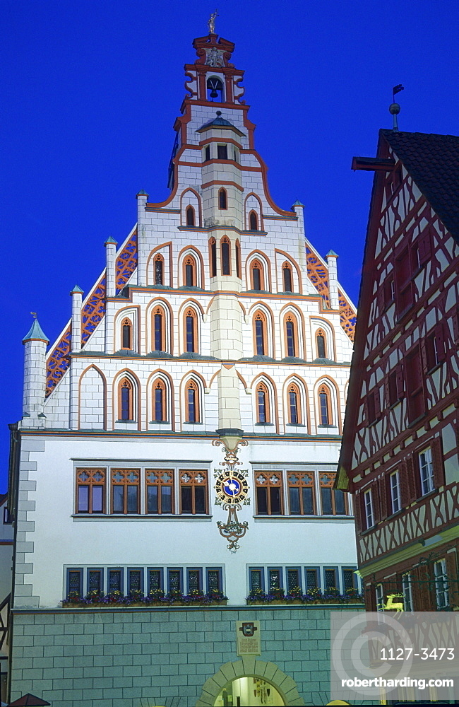 City hall, Bad Waldsee, Lake Constance, Baden-Wurttemberg, Germany / town hall