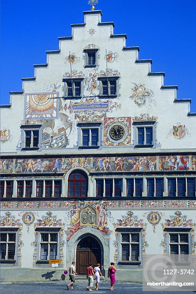 Municipal Archives with paintings, Lindau, Lake Constance, Bavaria, Germany / Stadtarchiv