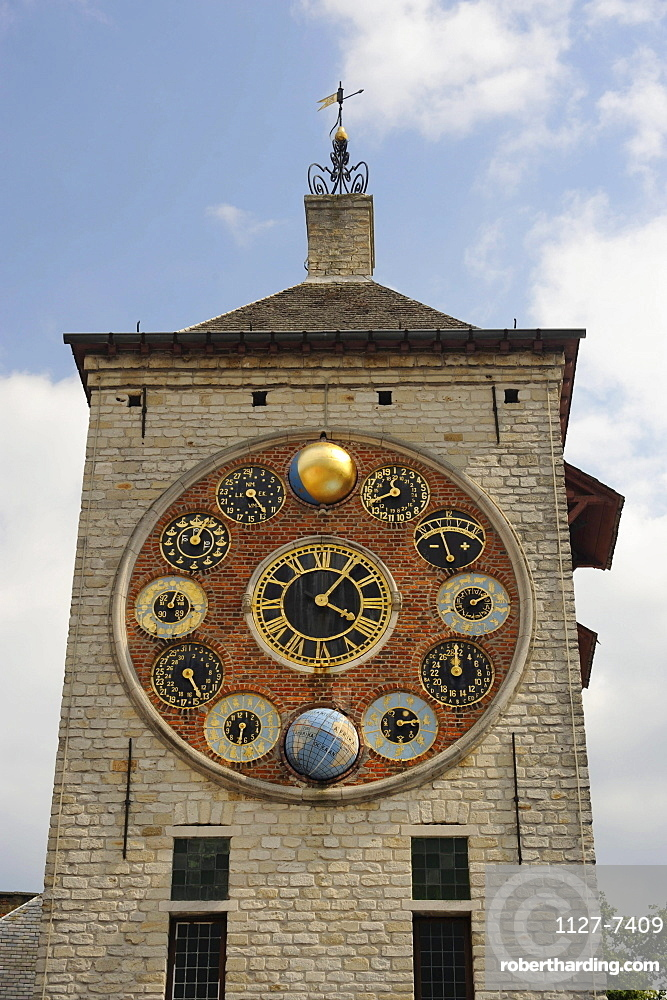 Clock tower, Lier, Flanders, Belgium