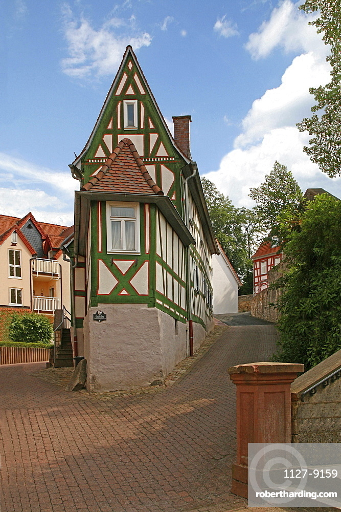 Small half-timbered house, 1,58 m, Bad Orb, Hesse, Germany