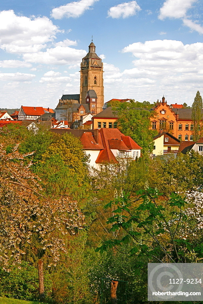Protestand church, old town, Bad Wildungen, Hesse, Germany