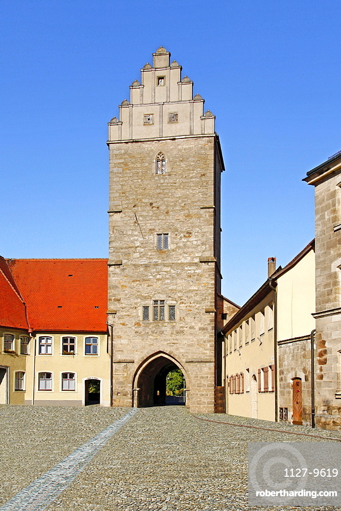 Rothenburg Gate, Dinkelsbuhl, Middle Franconia, Bavaria, Germany / Dinkelsbuhl, Rothenburger Tor