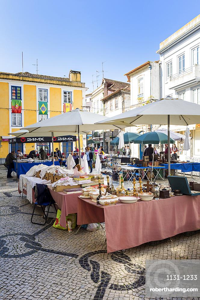 Flea market, Aveiro, Venice of Portugal, Beira Littoral, Portugal, Europe