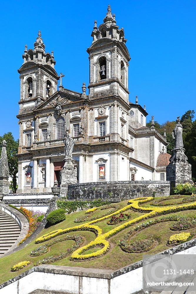 Santuario do Bom Jesus do Monte (Good Jesus of the Mount Sanctuary), Church, UNESCO World Heritage Site, Tenoes, Braga, Minho, Portugal, Europe