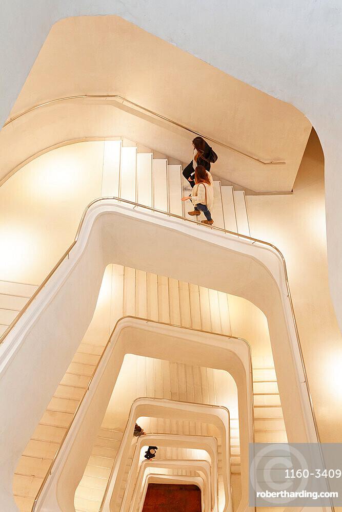 Staircase, Caixa Form, Museum, Architect Herzog and De Meuron, Madrid, Spain