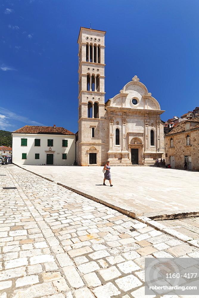 Sveti Stjepan Cathedral, Hvar, Hvar Island, Dalmatia, Croatia, Europe