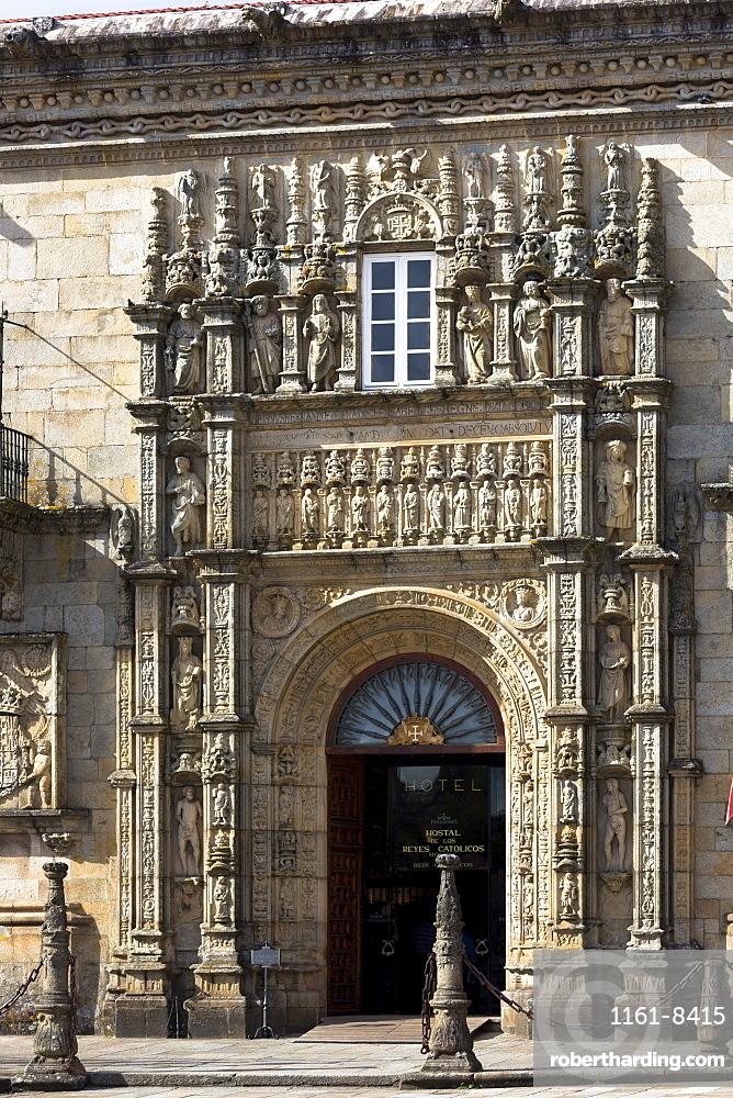 Parador Hostal de los Reyes Catolicos, UNESCO World Heritage Site, Santiago de Compostela, Galicia, Spain, Europe