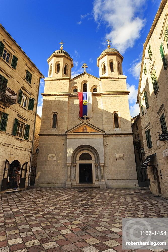 St. Nicholas Church, Orthodox, Old Town (Stari Grad), Kotor, UNESCO World Heritage Site, Montenegro, Europe