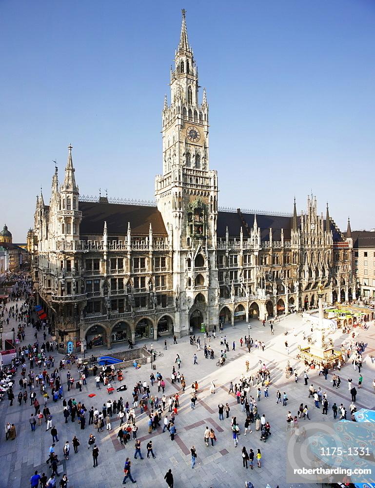 The town hall on Marienplatz, Munich