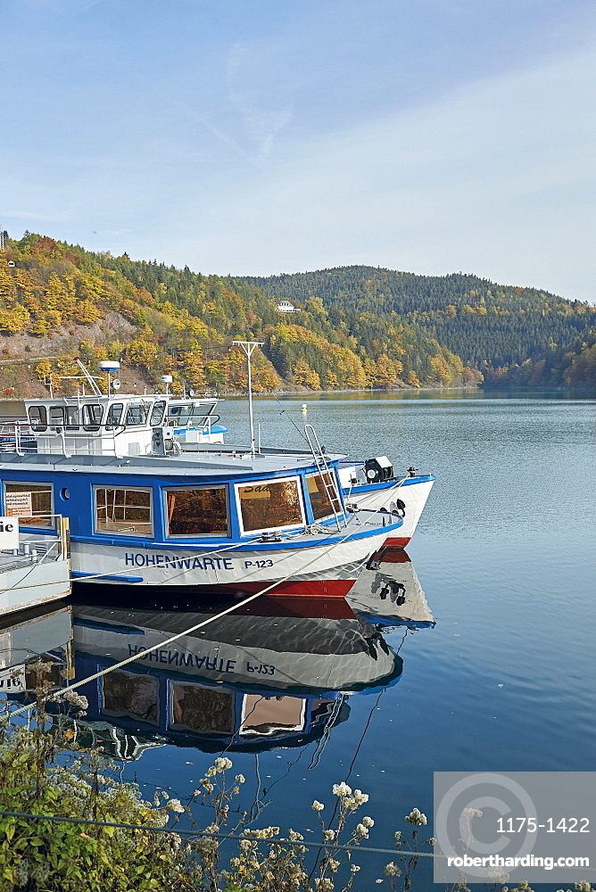 Thuringian Highlands, Hohenwarte-Stausee, Obere Saale, Thuringia, Germany