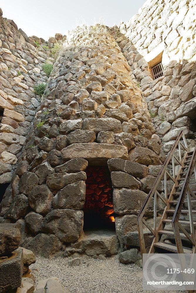 Cone shaped stone building in village Su Nuraxi, Barumini, Sardinia, Italy