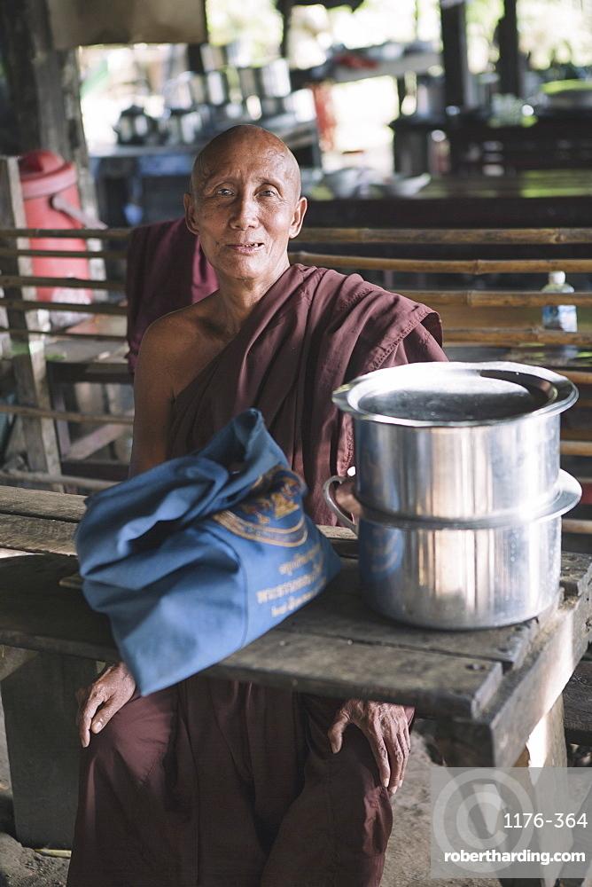 Local man, Mandalay, Sagaing, Myanmar, Southeast Asia