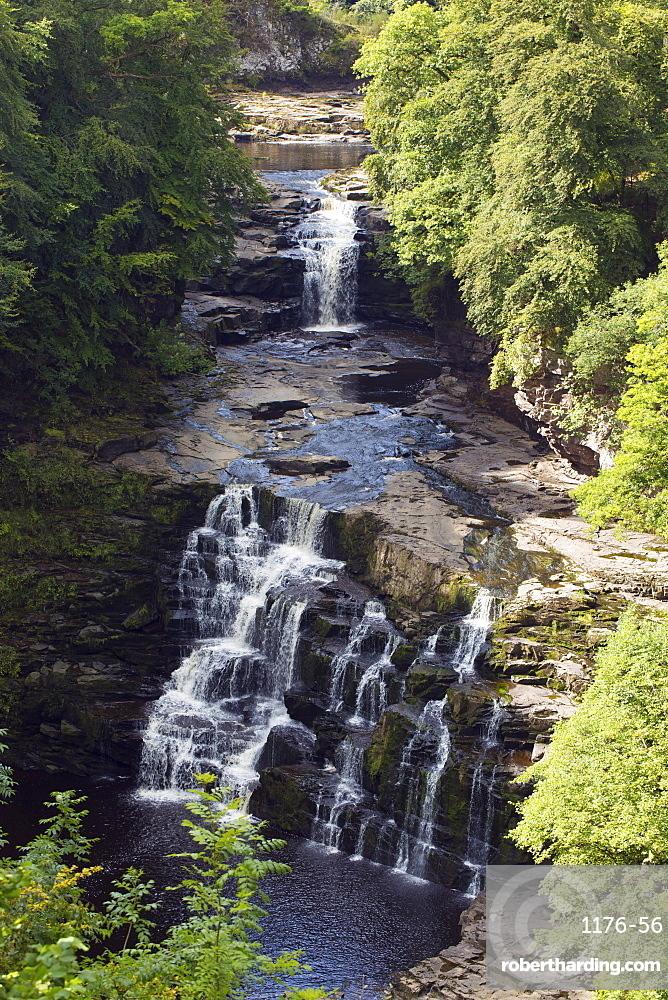 The Clyde River Falls near New Lanark, Lanarkshire, Scotland, United Kingdom, Europe