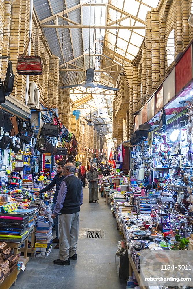 Cloth bazaar, Baghdad, Iraq, Middle East