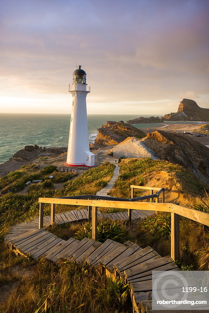 Castle Point Lighthouse, Castlepoint, Wairarapa, North Island, New Zealand, Pacific