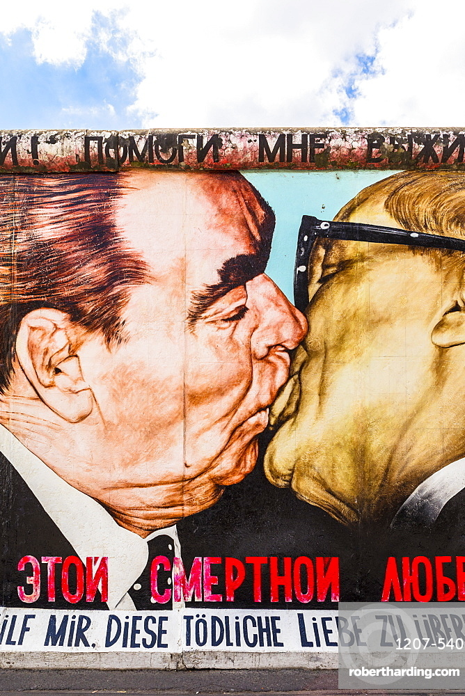My God, Help Me to Survive This Deadly Love by Dmitri Vrubel on the Berlin Wall, Berlin, Germany, Europe
