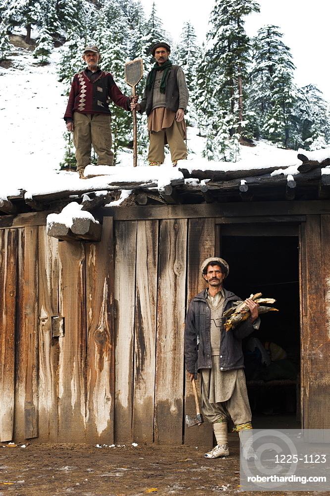 Kalasha shepherds, North West Frontier Province, Pakistan, Asia