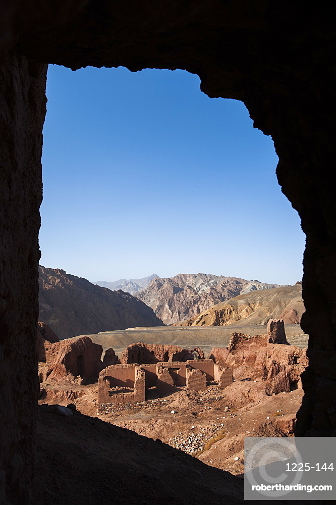 The ruined city of Shahr-e Zohak in the Bamiyan province, Afghanistan, Asia