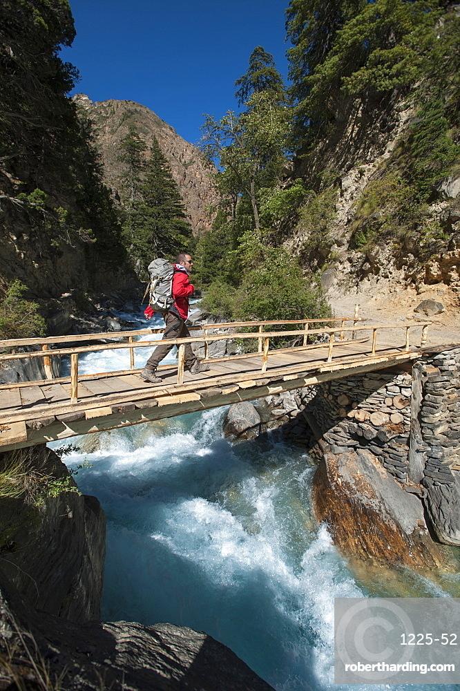 Hiking in Dolpa in Nepal, Asia