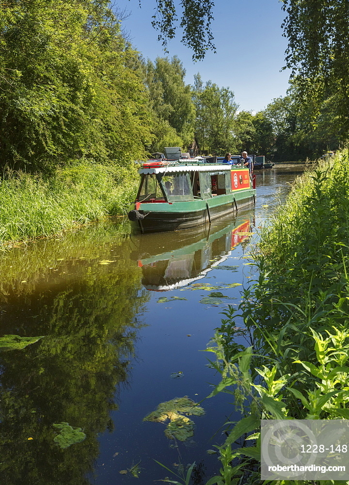 Boat on Pocklington Canal in the East Riding of Yorkshire, England, United Kingdom, Europe