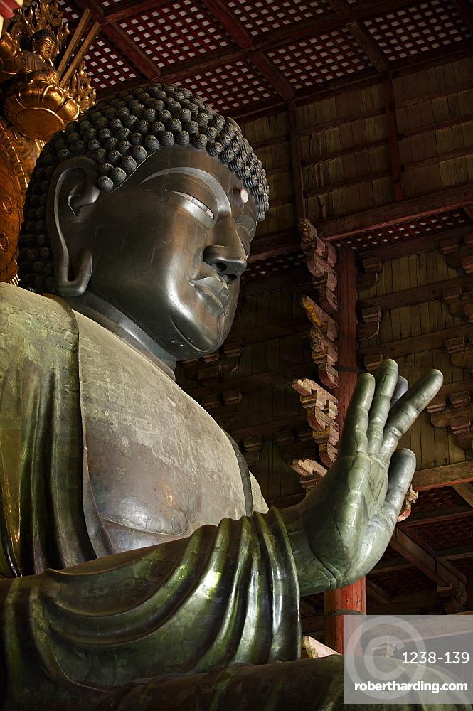 The Great Buddha, Todai-ji temple, UNESCO World Heritage Site,  Nara, Japan, Asia