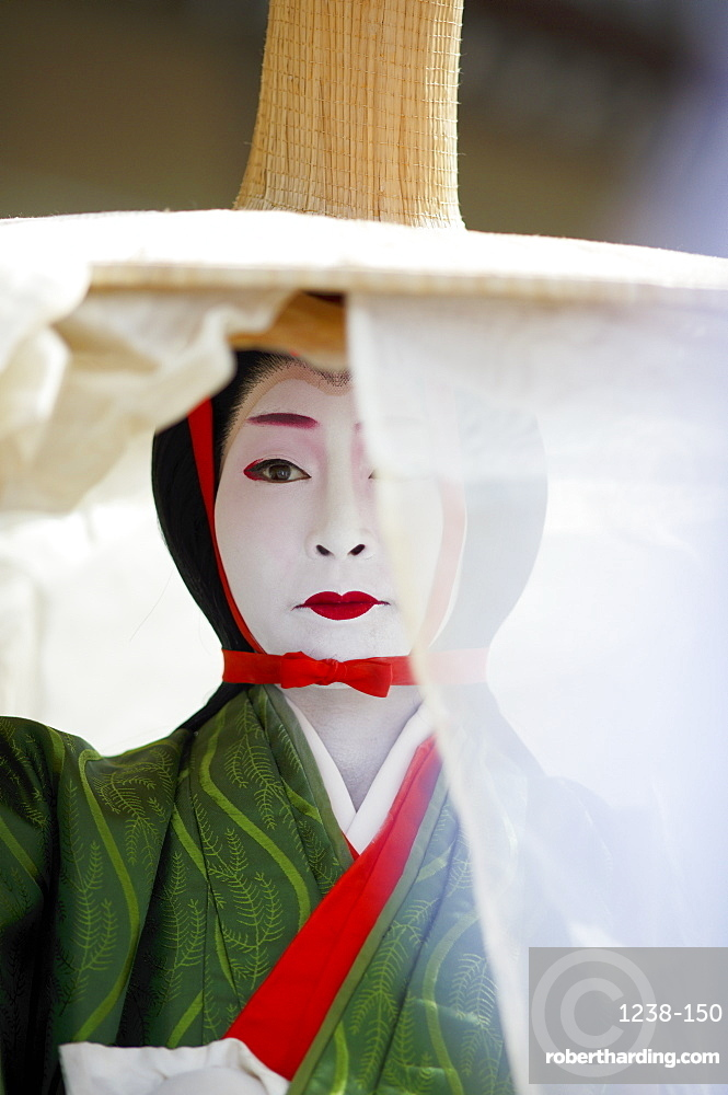 Twelfth century character Tokiwa Gozen, Jidai festival, Kyoto, Japan, Asia