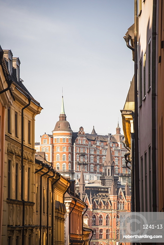 View of Mariaberget from Gamla Stan, Stockholm, Sweden, Scandinavia, Europe