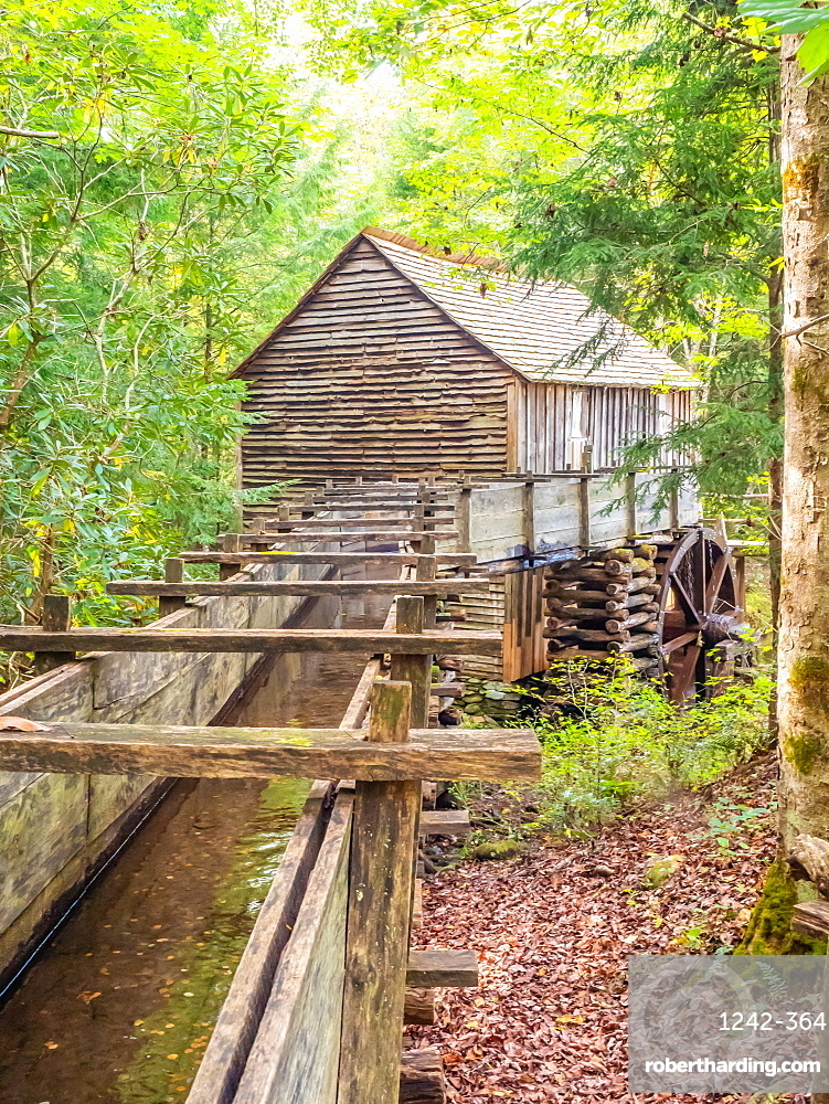 Old mill building, Cades Cove, Great Smoky Mountains National Park, Tennessee, United States