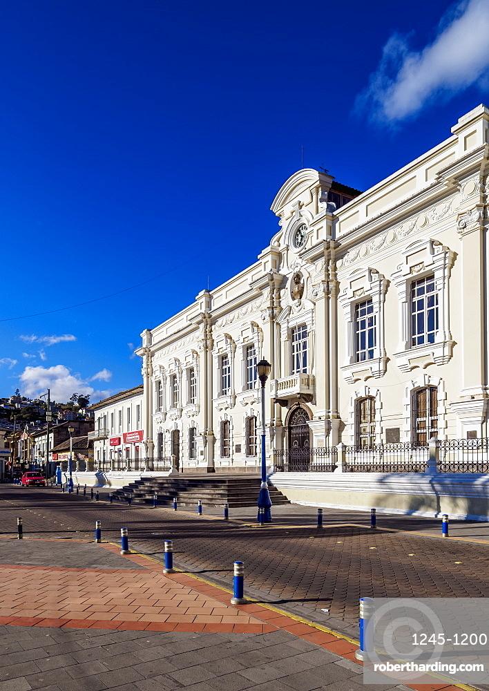 City Hall, Simon Bolivar Park, Otavalo, Imbabura Province, Ecuador, South America