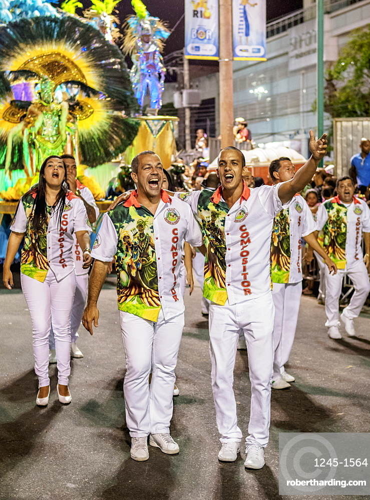 Carnival Parade in Rio de Janeiro, Brazil, South America