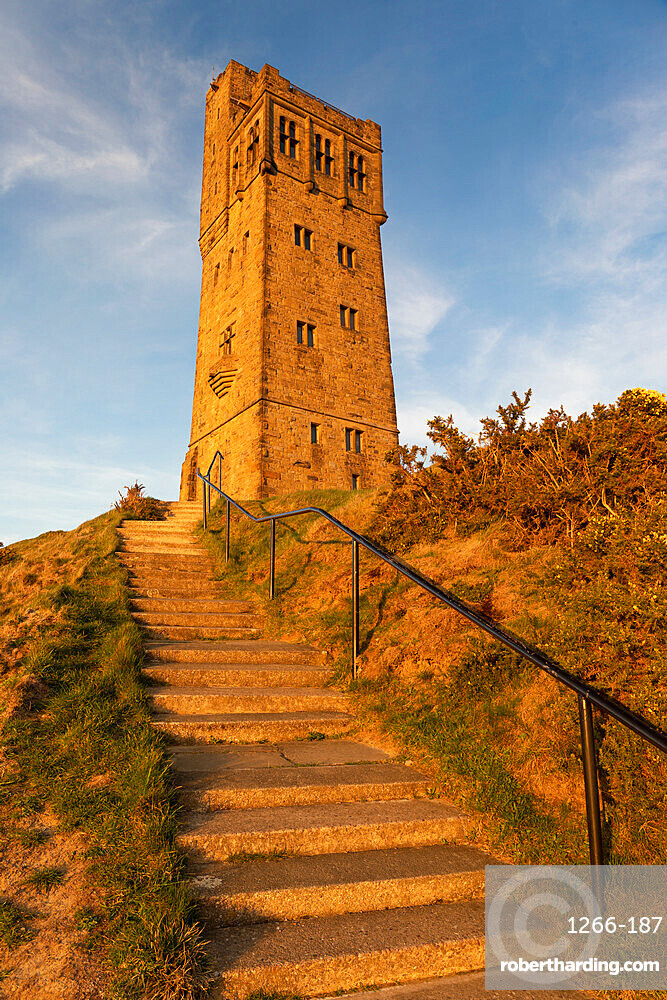 The Victoria or Jubilee Tower at Castle Hill near Almondbury, Huddersfield, West Yorkshire