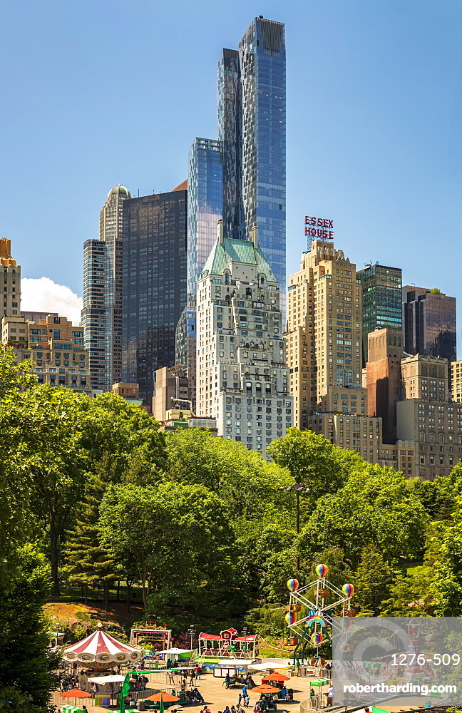 New York skyline from Central Park, New York City, Manhattan, United States of America, North America