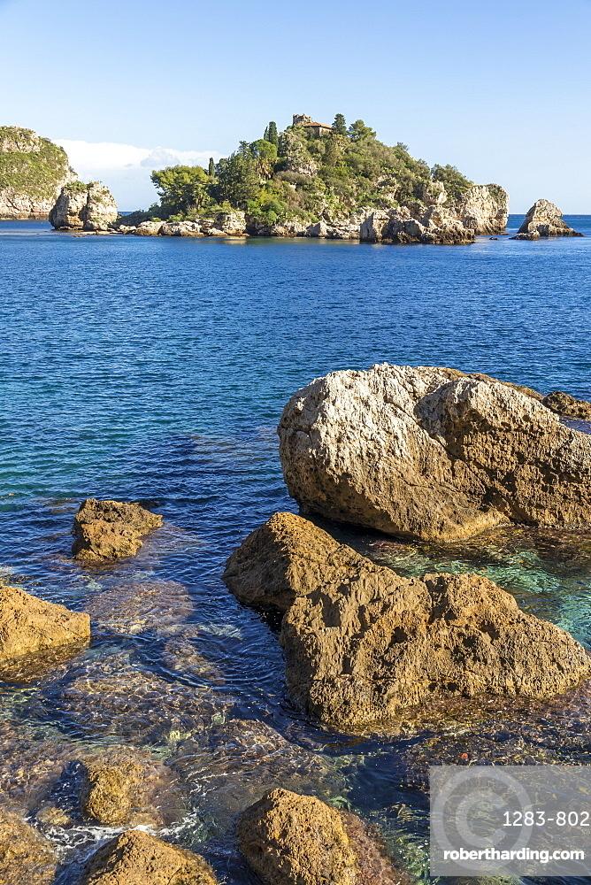 Isola Bella, Taormina, Sicily, Italy, Mediterranean, Europe
