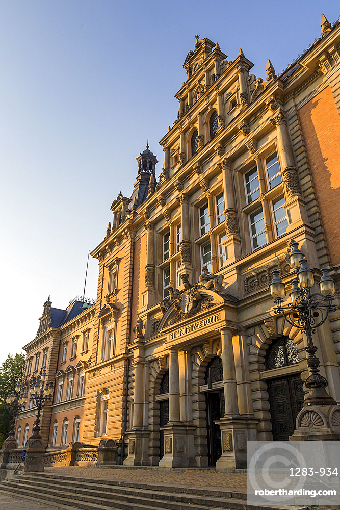 Historical Criminal Justice Building in the New Town District, Hamburg, Germany, Europe