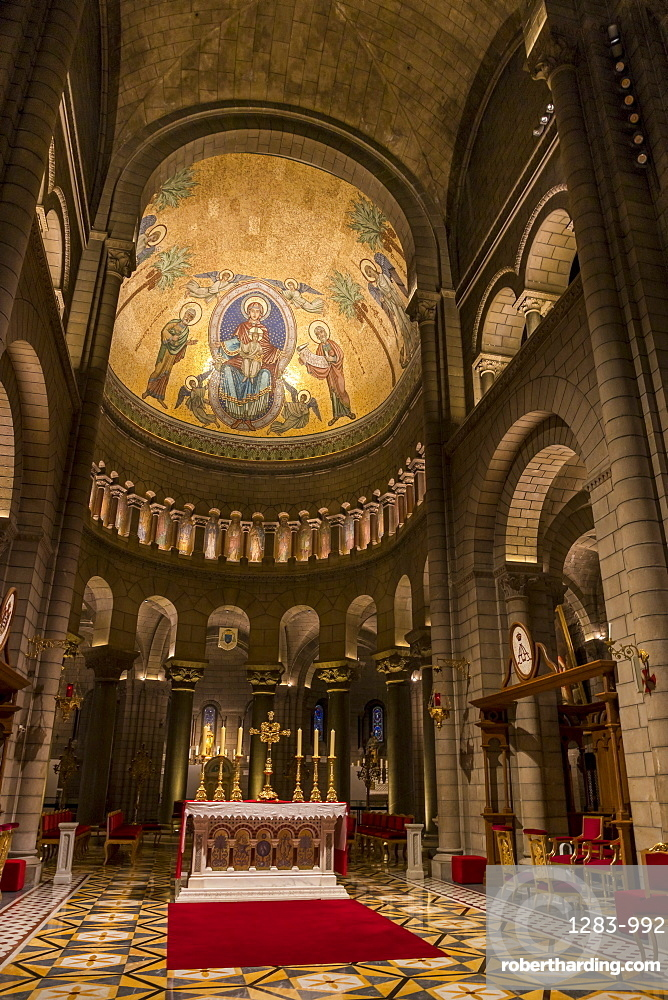 Interior of the St. Nicholas Cathedral in the old town, Monaco Ville, Monaco, Cote d'Azur, French Riviera, Mediterranean, Europe